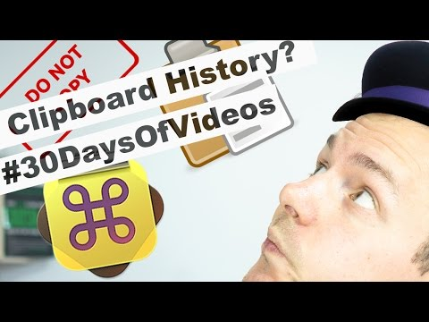 Tune your Mac with a Clipboard History | CopyClip | Paste | Alfred App #30DaysOfVideos