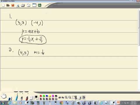 Technology in College Algebra - Linear Equations - Finding Equation of Line - TI-84 Plus