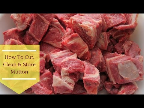 How To Cut, Clean & Store Mutton || Eid Ul-Azha Special By Ayesha
