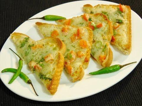 Chilli CheeseToast  - Quick and Easy Breakfast Snacks