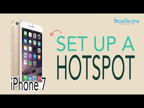 iPhone 7 - How to Set Up a Wifi Hotspot