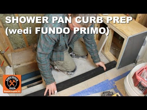 Install a Shower Pan Part 1: Curb Prep for Wedi Fundo Primo (Step-by-Step)