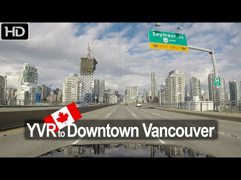YVR Airport to Downtown Vancouver Drive