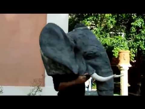 elephant mask  -costruzione per teatro