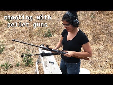 Shooting with pellet guns