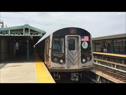 BMT West End Line: Manhattan, Bay Pkwy and Coney Island bound (D) and (N) Trains @ 71 St (R68, R160)