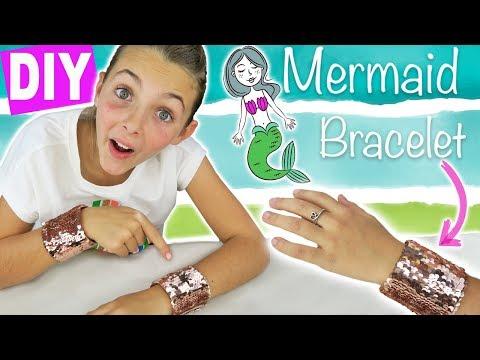 DIY Mermaid Sequin Bracelet | Amazing Viral Color-Changing Bracelet | Kids Cooking and Crafts