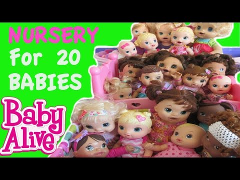 BABY ALIVE Nursery Tour For 20 BABY ALIVE BABIES!