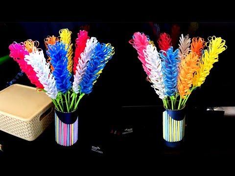 DIY- Beautiful Lavender Flower & Vase Making For Beginners
