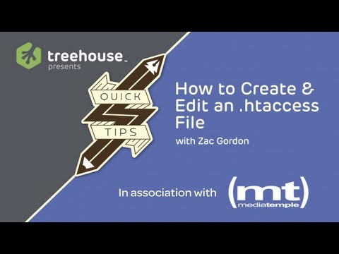 How to Create & Edit a .htaccess File