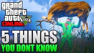 GTA 5 ONLINE - 5 THINGS YOU DONT KNOW IN GTA 5 ONLINE! (GTA 5 Secret Tips & Tricks)