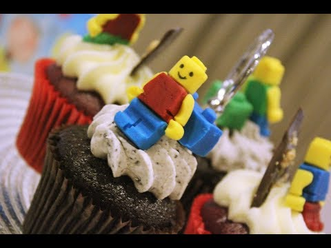 How To Make an edible Lego Man with Fondant.