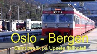 2016-11-10 TÅGRESA OSLO - BERGEN samt besök på Upsete fjällhotell ( Thomas Rådén )