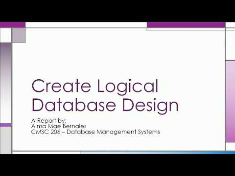 Logical Database Design (Part 1)