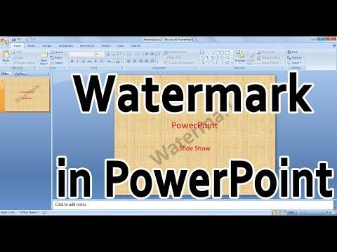 How to Add watermark in PowerPoint   Insert watermark in powerpoint