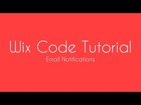 How To Send An Email Notification After Form Submission in Wix - Wix Code Tutorial