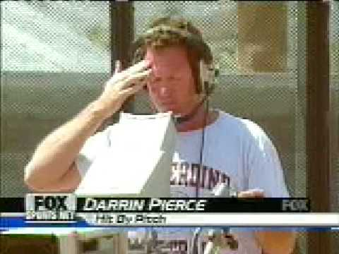 Darrin Pierce Gets hit by a pitch on Fox