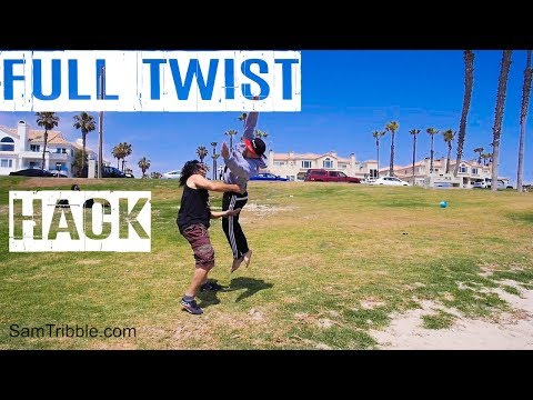 Sam Tribble Standing Full Twist Hack Tutorial (From arabian/front flip) How to Back Full Part 1