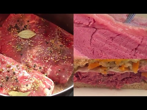DIY Recipe : the Most Tender Corned Beef Brisket Rueben Cabbage Hash Sandwich Slow Cooked Homemade