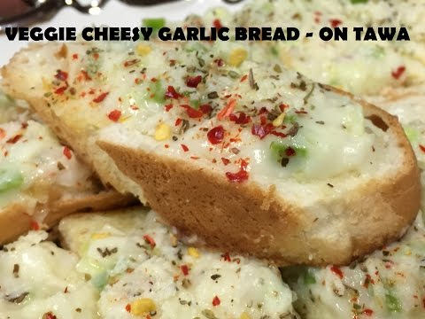 Cheesy GARLIC BREAD (without oven)
