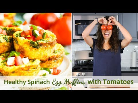 Healthy Spinach Egg Muffins with Tomatoes   Low-Carb