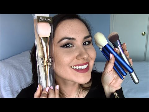 Real Techniques Bold Metals, OMG Foundation and Chikuhodo Brush Haul