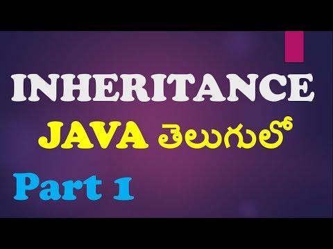 Inheritance in Java in Telugu Part 1    Single level    Kotha Abhishek