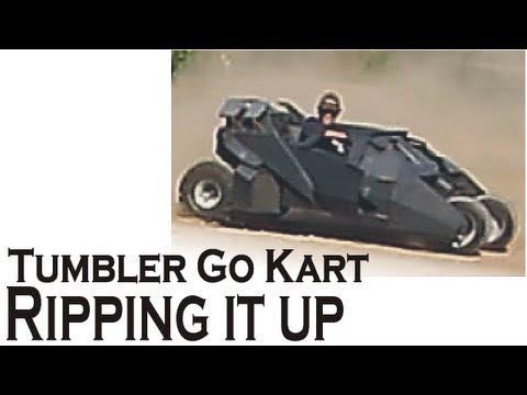BATMOBILE GO KART DRIVE  ██ ( gravel road romp )