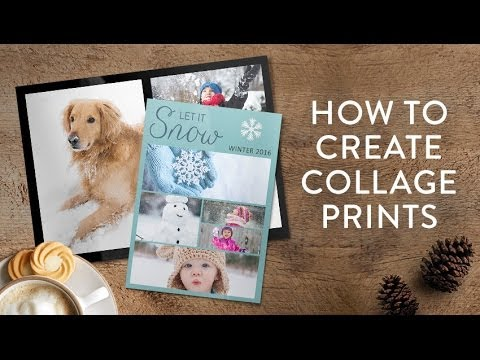 Creating a collage print in Snapfish