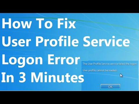 [FIXED] The User Profile Service service failed the logon.  Windows 7