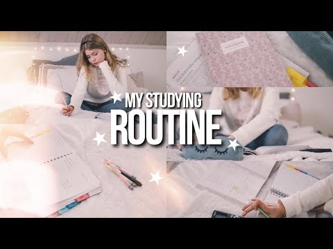 MY STUDY ROUTINE 2018! How To Get Good Grades + Stay Motivated For School