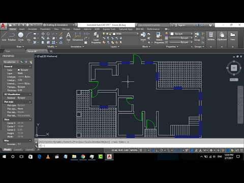 Basic House Plan drawing in AutoCad 2017 | Part-1 | 2D Basics Step by step