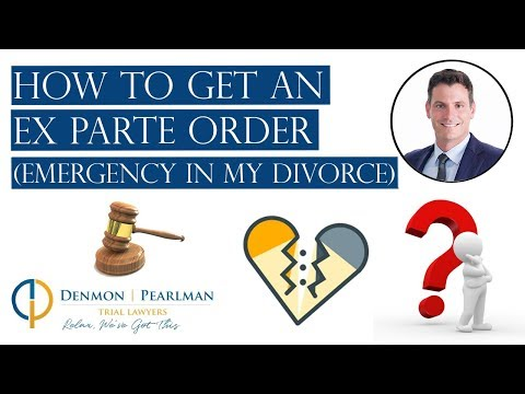 How to Get an Ex Parte Order in Florida (Emergency in my Divorce)