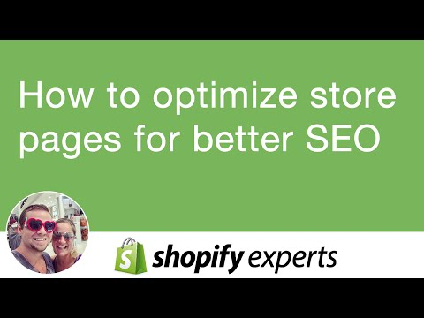 How to optimize shopify store page for better SEO using title, description and url