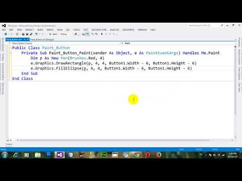 How to Use Paint event of Button control in VB NET 2012