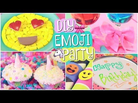 DIY EMOJI PARTY Unicorn Cupcakes Easy Decor SoCraftastic