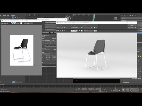 3ds max tutorial folding chair model quickly.