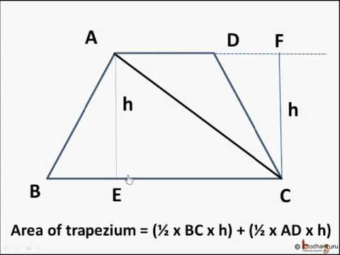 Maths - How to find area of trapezium - English