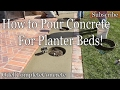 How to Pour and Make a Concrete Planter Bed