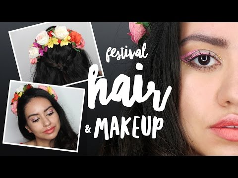 MUSIC FESTIVAL Makeup & Hair Tutorial