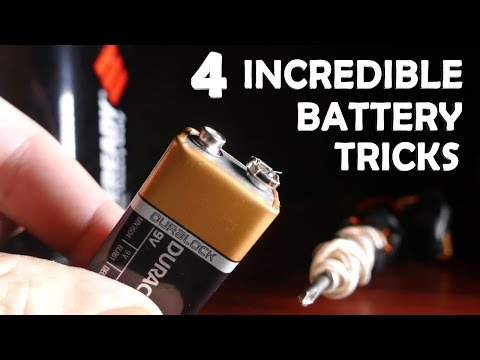 4 Incredible Tricks With Batteries!