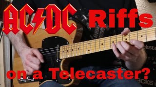 AC/DC Riffs played on a cheap Telecaster (Harley Benton Te-52) - getplaypk