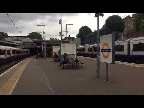 Class 66 Fright & London Overground Class 378 at Highbury & Islington