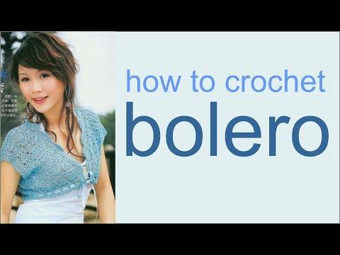 How to crochet bolero WIKA crochet