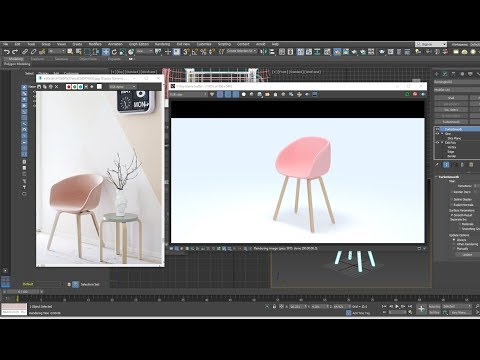 3dsmax model New Art chair - quickly