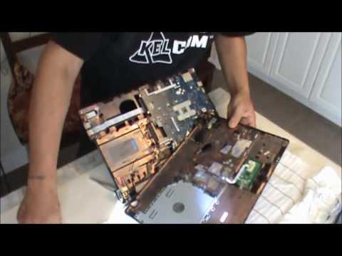 how to fix Acer laptop overheating fan cooler, cleaning. Как разобрать ноутбук.чистка ноутбука Acer.