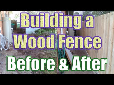 Building a Wood Fence with Concrete Posts (Wood Fence Installation with DaznDi)