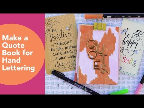 How to make a quote book, Hand Lettering, Tombow, Fiskars paper trimmer, easy paper crafts