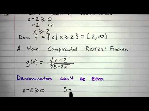 5.1.3 - Domain of a Radical Function