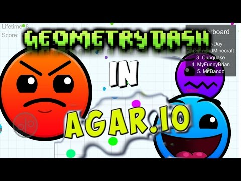 NEW ICONS AND DIFFICULTIES! GEOMETRY DASH IN AGAR.IO! Funny Moments